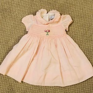 Ralph Lauren Smocked Girls Baby Dress
